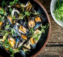 Fresh Fowey Mussels Steamed in Clouded Yellow Ale