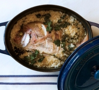 Oven Baked Red Mullet with Rice