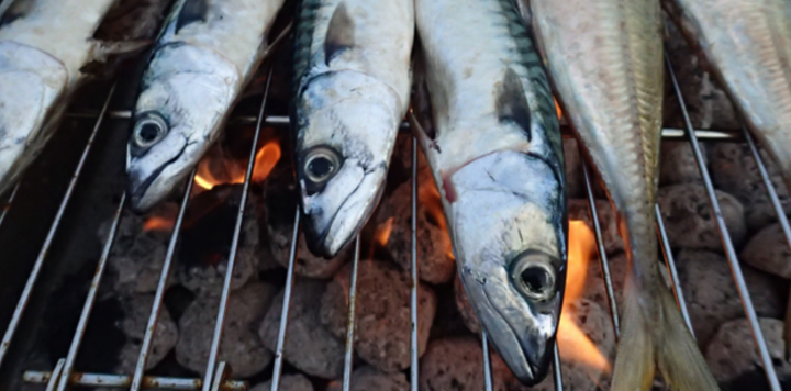 Mackerel barbecue